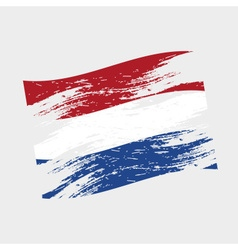 color netherlands national flag grunge style eps10 vector image