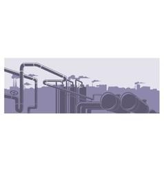 Industrial factory landscape vector