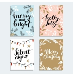 Set of cute Christmas invitations Collection of vector image vector image