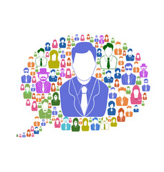 business people in speech bubble vector image