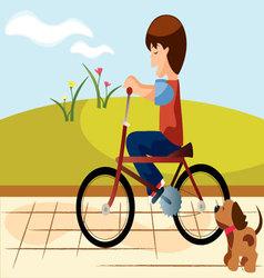 child-bike vector image vector image