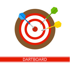 darts and dart board isolated vector image