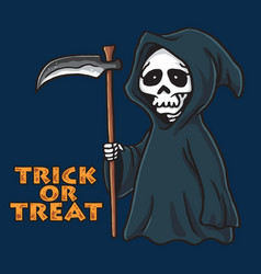grim reaper halloween card invitation design vector image vector image