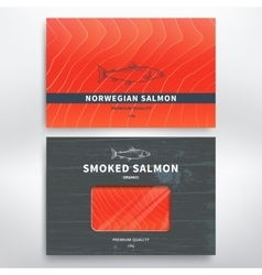 Packaging for fish vector image vector image