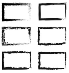 set of abstract frames for photos or pictures vector image vector image