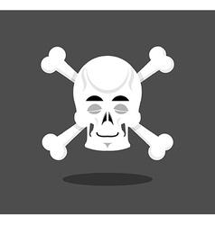 Sleeping skull emotion Crossbones Closed eye vector image vector image