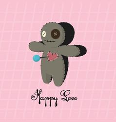 voodoo doll happy love valentines day vector image