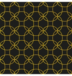 Black and gold seamless pattern background vector image