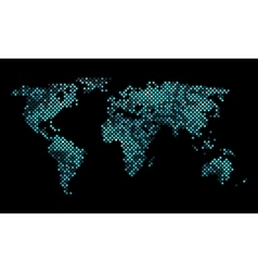 Colorful pixel world map vector image vector image