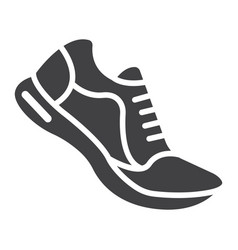 running shoes glyph icon fitness and sport vector image