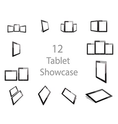 Tablet Screen Showcase vector image vector image