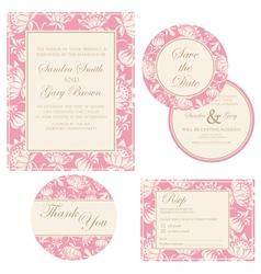 Wedding invitation set vector image vector image