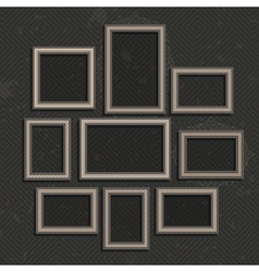Wooden picture frame set vector image vector image