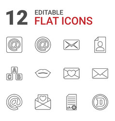12 letter icons vector