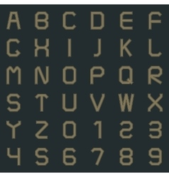 A set of letters and numbers vector image