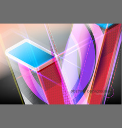 Abstract colors shapes motion graphics vector