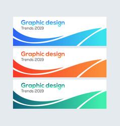abstract web banner design facebook cover abstra vector image