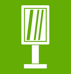 advertising stand icon green vector image