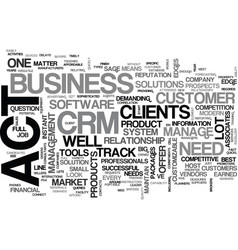 are you up for the act in your crm system text vector image