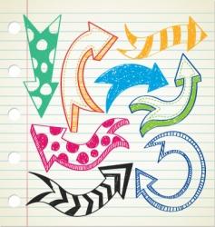 arrow doodle vector image