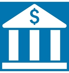 Bank Building Flat Icon vector image
