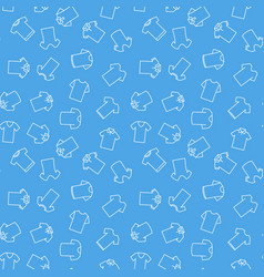 Blue t-shirt seamless pattern vector