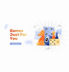 Board gaming web banner vector