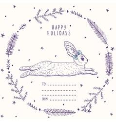 bunny card vector image