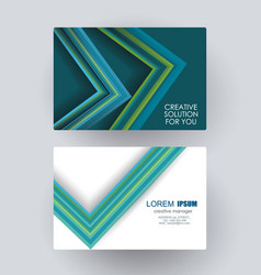 Business card design with poligonal geometric vector