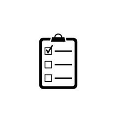 checklist clipboard flat icon vector image