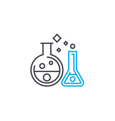 chemical experiments linear icon concept chemical vector image