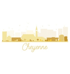 Cheyenne City skyline golden silhouette vector image