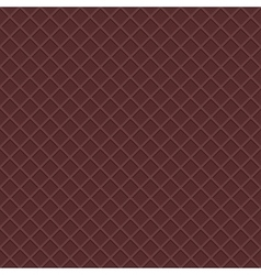 Chocolate waffles seamless background vector image