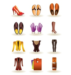 Clothing and footwear leather vector