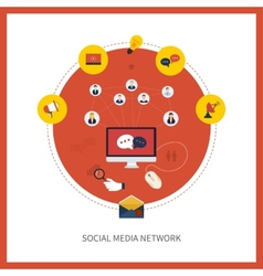 Communication and social media vector image
