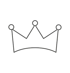 Crown queen isolated icon vector
