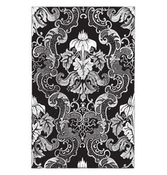 Curtain is weaved in a damask pattern of white vector