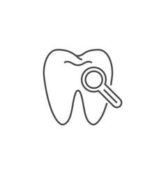 dental diagnostic line icon vector image