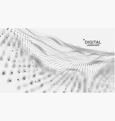 Digital landscape data technology wave vector