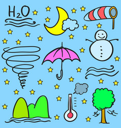 Doodle of weather object art vector