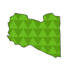 dotted line map of libya vector image