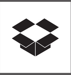 dropbox icon or logo vector image