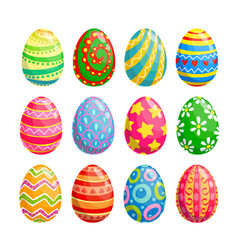 easter egg icons religion holiday and egghunting vector image