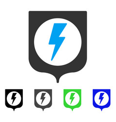 Electric protection flat icon vector