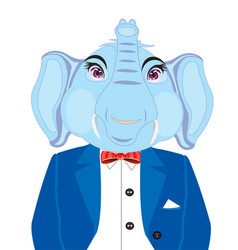 elephant in suit vector image