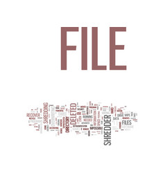 Eliminate unnecessary files forever use file vector