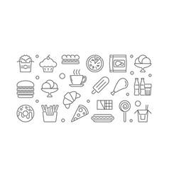 Fast food unhealthy eating vector