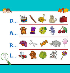 Find picture educational game vector