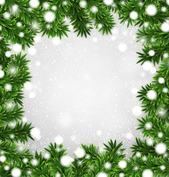 Fir christmas frame vector image