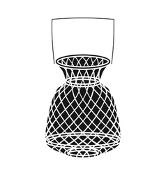 Fishing net icon in black style isolated on white vector image